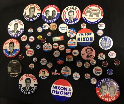 Richard Nixon Presidential Political Campaign Pinback Button Lot of 60pcs JH937