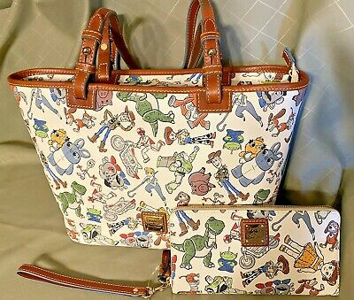 NWT Disney Parks Dooney & Bourke Toy Story Tote Bag Purse and Wallet SHIPS FREE!