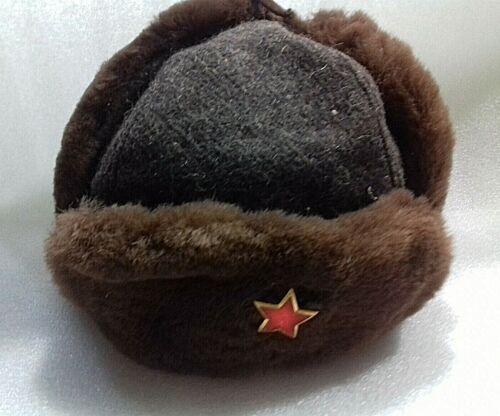 VINTAGE OLD ALBANIAN USHANKA MODEL-HAT CAP-COMMUNISM TIME