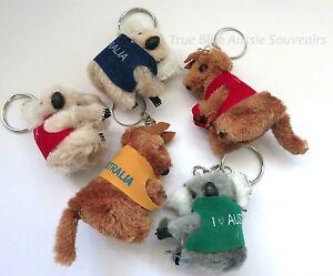 24x Australian Souvenir Koala & Kangaroo Keyring Clip-On Key Ring