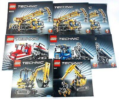 Lego Technic Instruction Manual Lot 8047 8052 8053 8263 Crane Truck Groomer