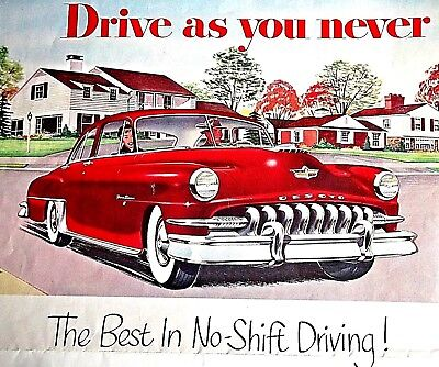 DE SOTO Powermaster 6 and Firedome 8  - 1952 Sales Brochure + Launch Article