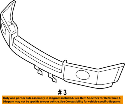 Lincoln FORD OEM MKX Front Lower Bumper-Spoiler Chin Lip Splitter BA1Z17D957APTM