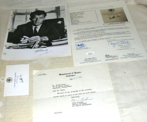 1962 Original Hand Signed,Attorney General, Robert Kennedy  Autograph Lot,  COA