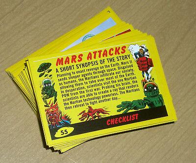 2017 Topps MARS ATTACKS Revenge complete YELLOW 110-card set base + pencil /199