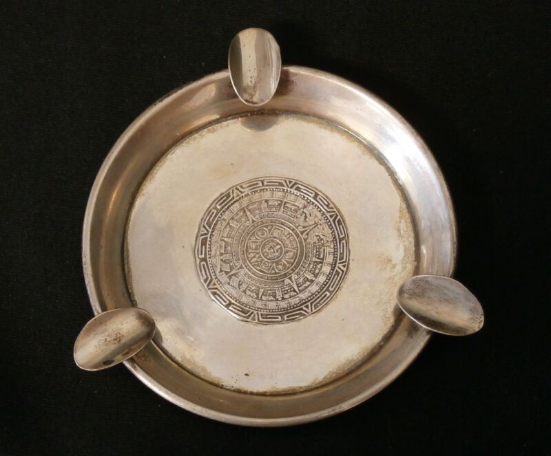Vintage River Mexico Sterling Silver Handmade Ash Tray. Make Offer! #456