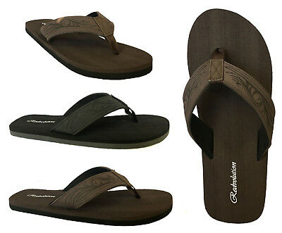 New MEN TRIBAL Tattoo Sandals Flip Flop Size 7-13 Beach Gym.. ( 585 M )