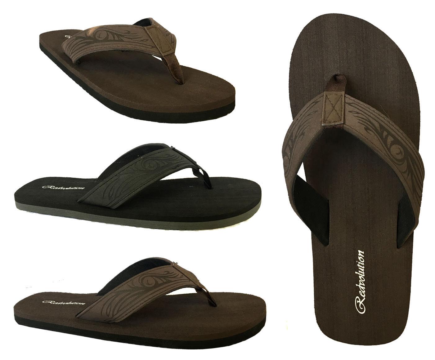 7ff30bd9a053 New MEN TRIBAL Tattoo Sandals Flip Flop Size 7-13 Beach Gym ...