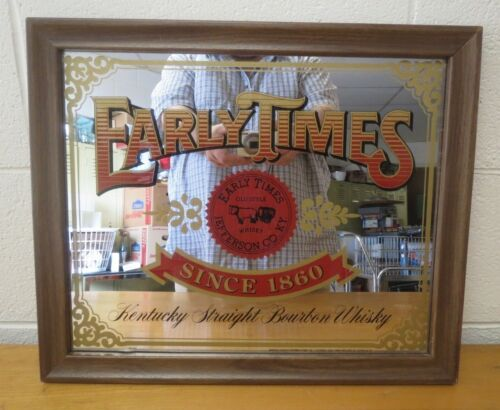Vintage RARE Bar Sign Early Times Kentucky Bourbon Whisky Mirror 18 X 15 Inches