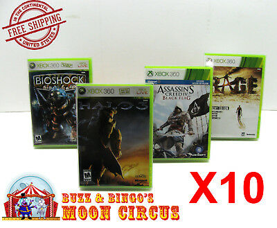 10X XBOX 360 CIB GAME - CLEAR PLASTIC PROTECTIVE BOX PROTECTOR CASE SLEEVE  for sale  Shipping to India