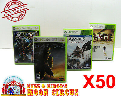 50X XBOX 360 CIB GAME - CLEAR PLASTIC PROTECTIVE BOX PROTECTOR CASE SLEEVE , used for sale  Shipping to India