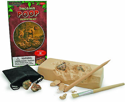 Dinosaur Poop Excavation Kit - Genuine Fossilized Coprolite Dino Dig Science - Dino Excavation Kit