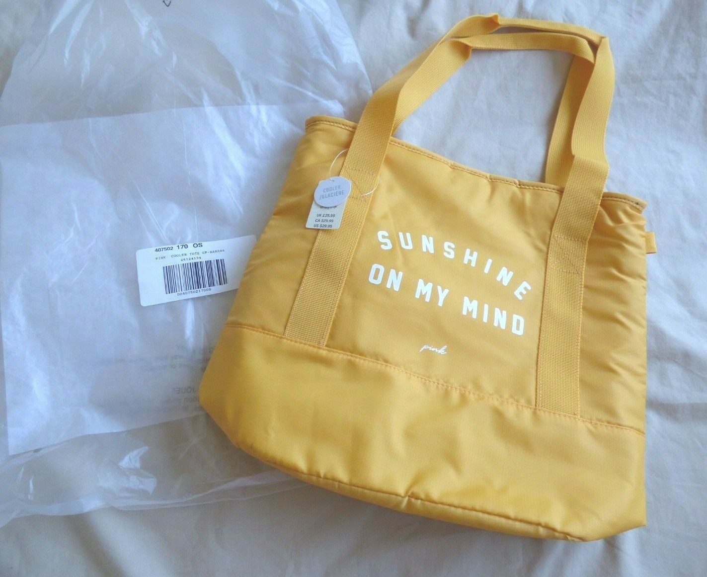 Victoria Secret PINK Insulated Cooler Tote - Sunshine on My