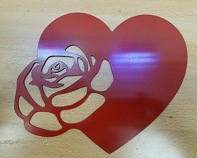 Heart/Rose metal wall art plasma cut decor gift idea - Valentine Decorations Ideas