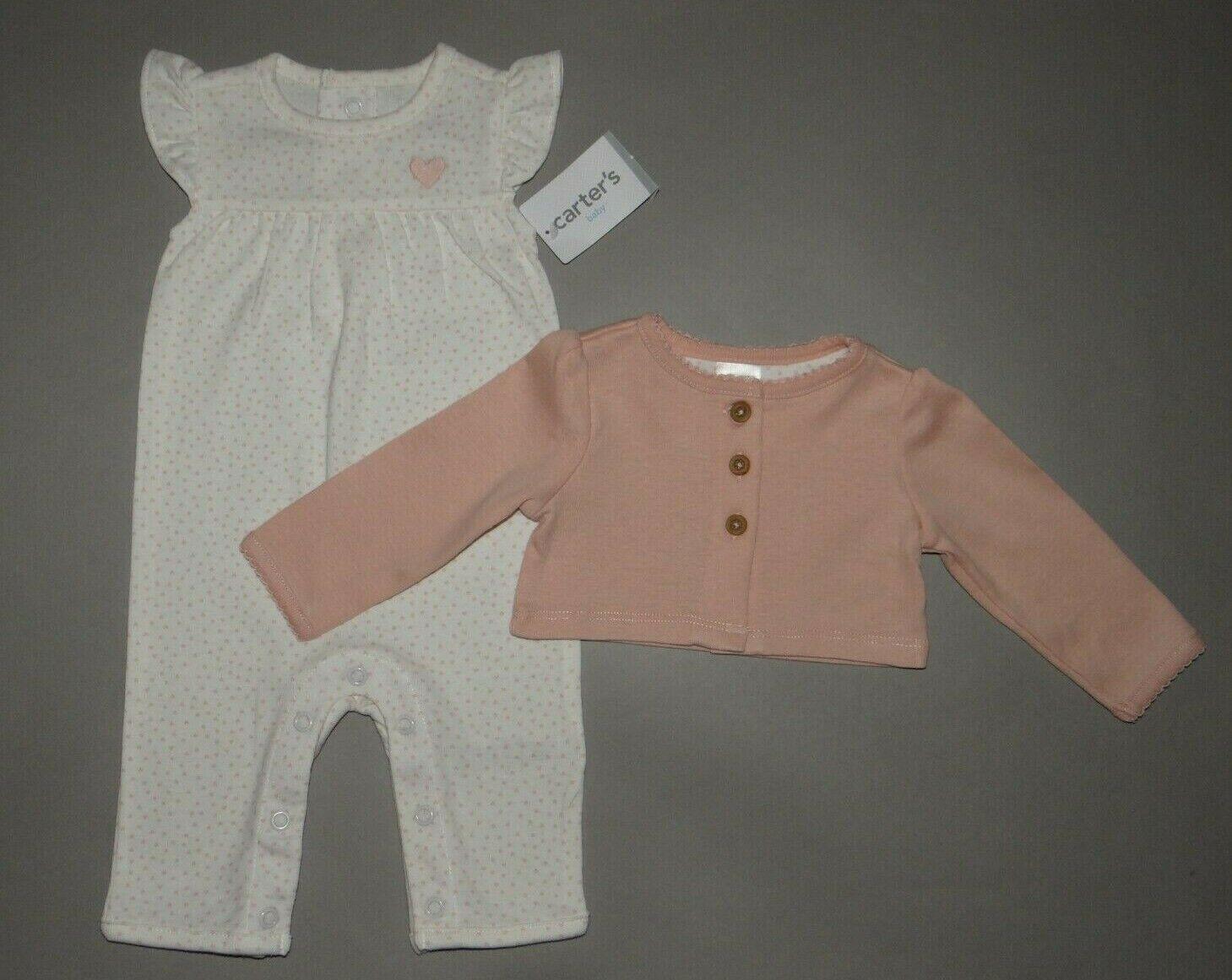 Baby girl clothes, Newborn, Carter's 2 piece jumpsuit set/ 1