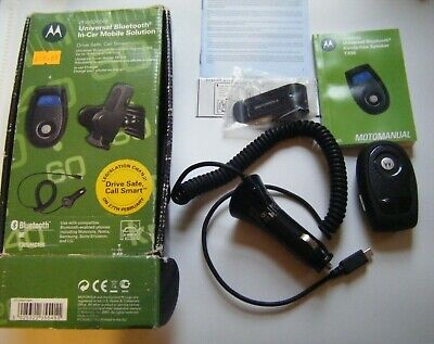 MOTOROLA T305 BLUETOOTH HANDSFREE SPEAKER KIT - Complete and Boxed