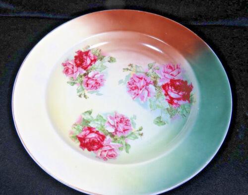 """Vintage Large Round Porcelain Serving Platter 13"""""""