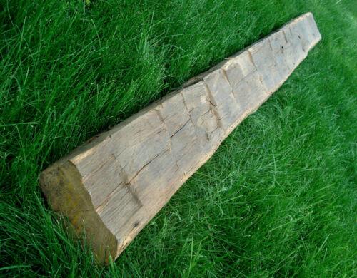 "Antiq 1700s House Barn Hand Hewn Beam 3"" x 6"" x 78"" Wood Species Unknown OLD Vtg"