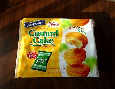 Custard Cake LOTTE party pack Japanese cake candy sweets made in Japan