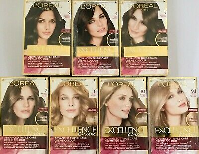 Triple Care Creme (L'Oreal Excellence Creme Advanced Triple Care Creme Permanent Colour X 2 Pieces)