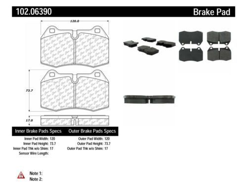 Centric Front /& Rear Metallic Brake Pads 2SET For Honda Civic 2003