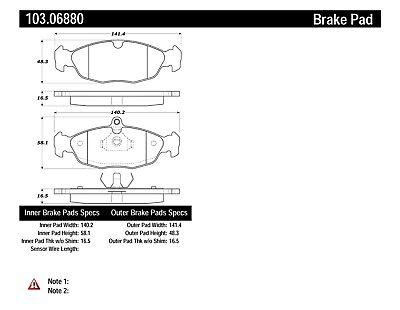 Disc Brake Pad Set-C-TEK Ceramic Brake Pads Rear,Front Centric 103.06880