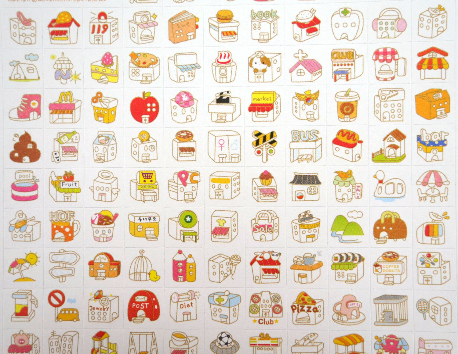 2 pages Korean storefront stickers! Kawaii home, cute planne