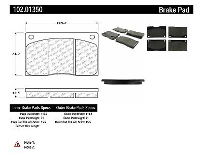 Disc Brake Pad Set-C-TEK Metallic Brake Pads Front Centric 102.01350