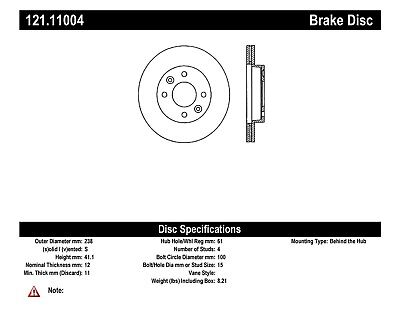 C Tek Standard Disc Brake Rotor Preferred Fits 1983 1987 Renault Alliance Encore