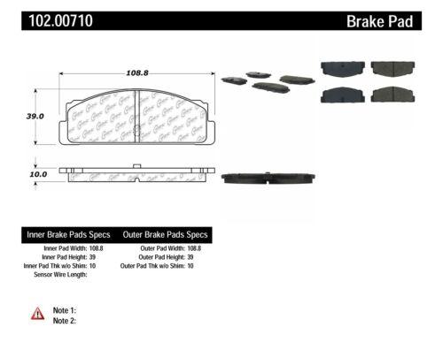 Ceramic StopTech 103.05120 Brake Pad