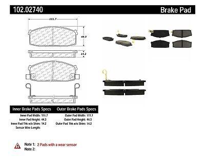 Disc Brake Pad Set-C-TEK Metallic Brake Pads Centric fits 83-85 Nissan Sentra