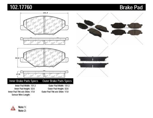FRONT + REAR SET Centric Parts Semi-Metallic Disc Brake Pads CT98736