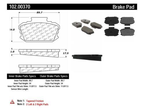 Disc Brake Pad Set-C-TEK Metallic Brake Pads-Preferred Front Centric 102.00460