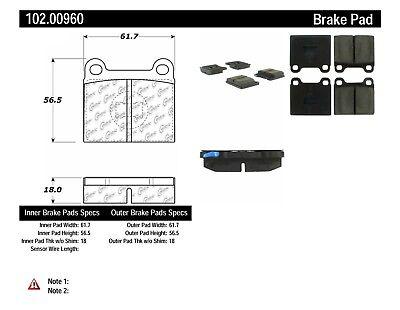 Disc Brake Pad Set-C-TEK Ceramic Brake Pads Front,Rear Centric 103.04930