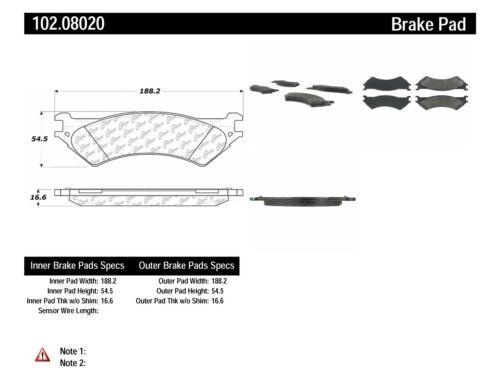 Disc Brake Pad Set-C-TEK Metallic Brake Pads Rear Centric 102.08020
