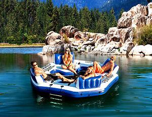 Giant 4 Person Inflatable Lake Raft Pool Float Ocean