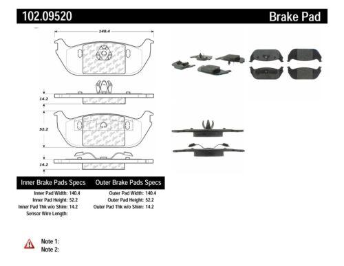 Disc Brake Pad Set-C-TEK Metallic Brake Pads Rear fits