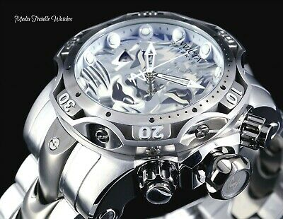 Invicta Reserve Lion Men's 52mm Venom Gen III Swiss Quartz All Silver Bracelet