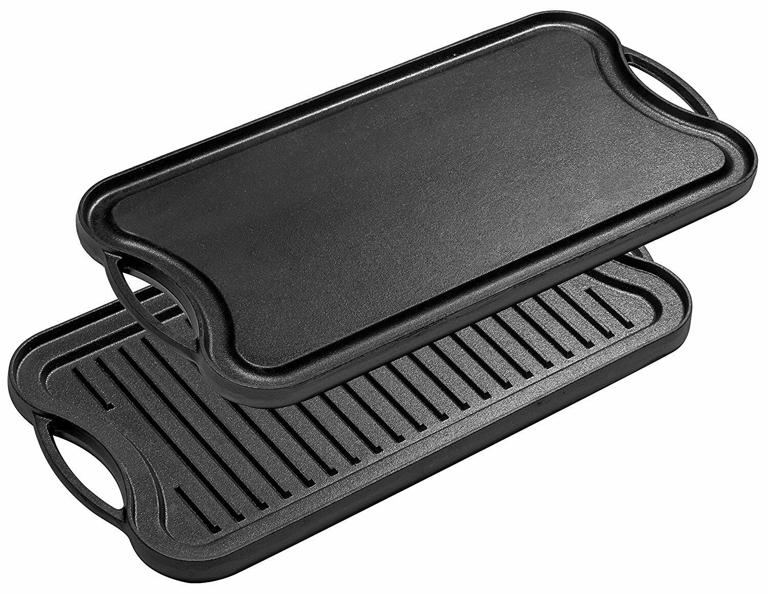 Bruntmor Pre Seasoned Cast Iron Reversible Griddle Grill Pan