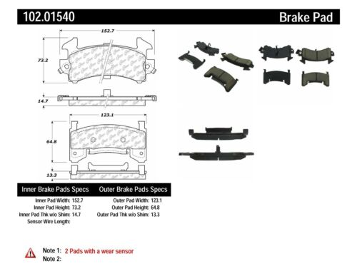 Disc Brake Pad Set-C-TEK Metallic Brake Pads Rear,Front Centric 102.07170
