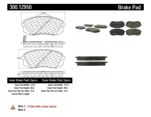 Disc Brake Pad Set fits 2007-2010 Kia Rondo CENTRIC PARTS