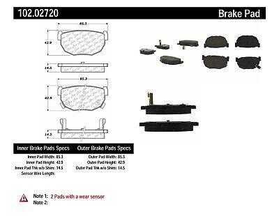 Disc Brake Pad Set-C-TEK Metallic Brake Pads Centric fits 89-98 Nissan 240SX