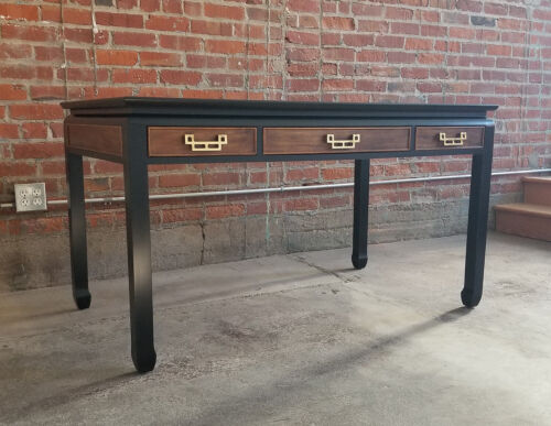 70s CENTURY FURNITURE Desk+Chair CHIN HUA-Chinoiserie/Hollywood Regency