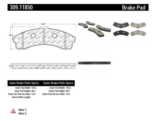 06-11 Chevy C6 Corvette Z06 Front /& Rear Set Stoptech Sport Brake Pads