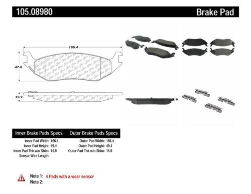 Posi-Quiet Ceramic Disc Brake Pad w/Shims & Hardware fits