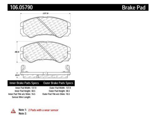 Disc Brake Pad Set fits 1992-2002 Isuzu Rodeo Trooper