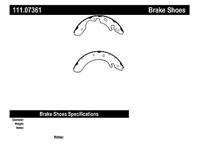 Drum Brake Shoe-Premium Brake Shoes-Preferred Rear Centric 111.07361
