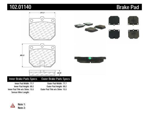 Disc Brake Pad Set-C-TEK Metallic Brake Pads Front Centric 102.04770