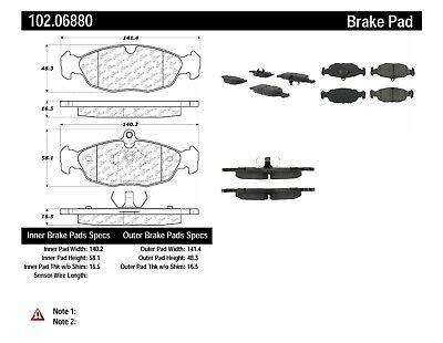 Disc Brake Pad Set-C-TEK Metallic Brake Pads Rear,Front Centric 102.06880