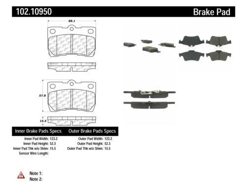 C-TEK Metallic Brake Pads fits 2004-2009 Volvo S40 C70 S40